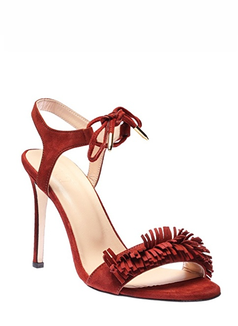 İnci Topuklu Ayakkabı  Bordo